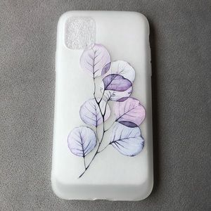 iPhone 11 Frosted Silicone Floral Phone Case